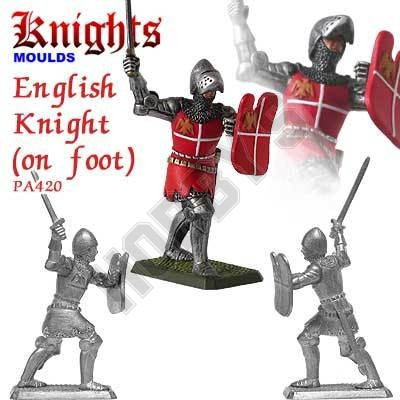 Medieval English Knight on foot