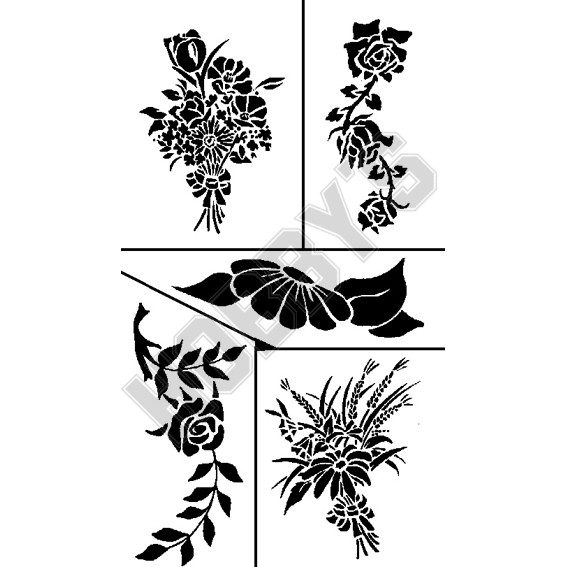 Flower Heads X 6 (All Different)