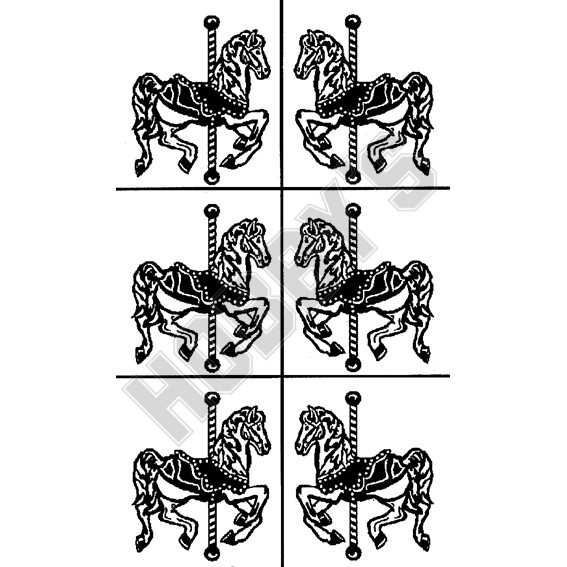 Carousel Horses X  6