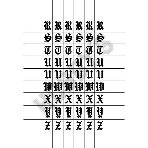 Letters R-Z 5 of each