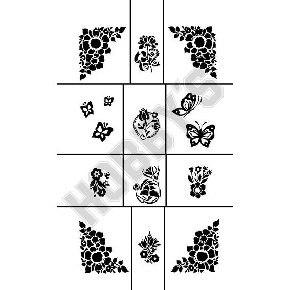 Flowers & Butterflys X 12