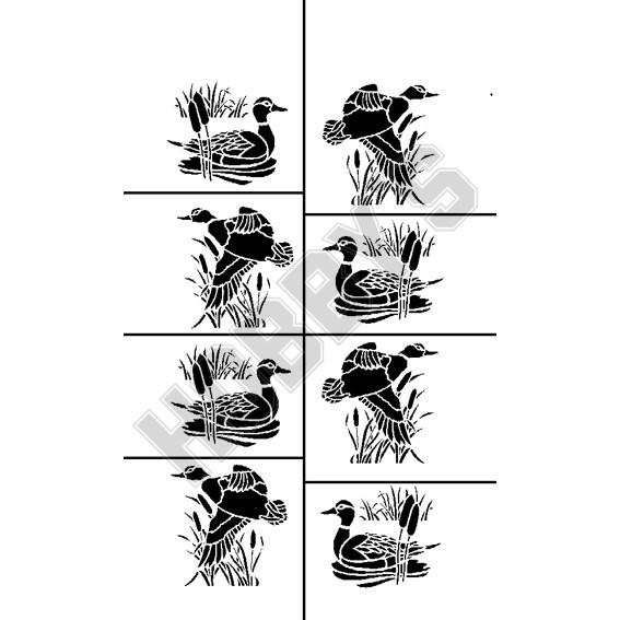 Birds Ducks X 6 (3 Paddling, 3 Flying)
