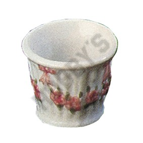 White & Pink Fluted Plant Pot