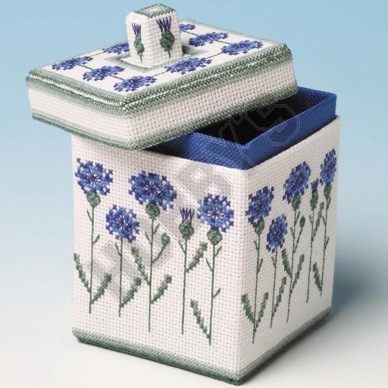 Cornflower Box-Cross Stitch