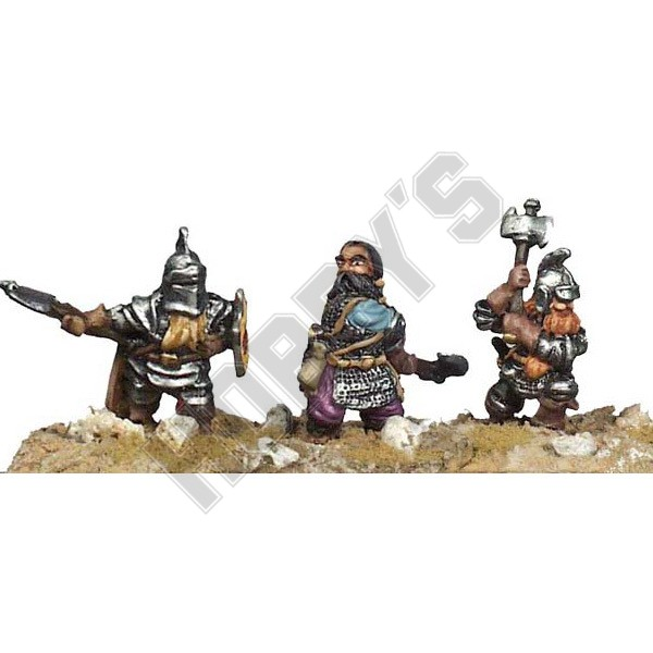 Casting Mould - Dwarf Axemen x 3