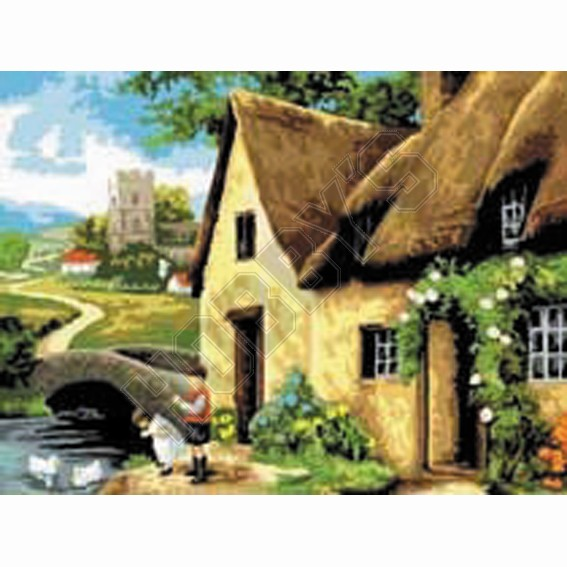 Painting By Numbers - Cottage By The River