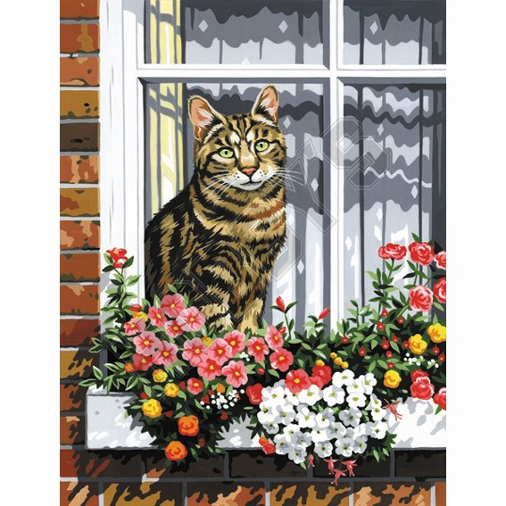 Painting By Numbers - Cat in the Window