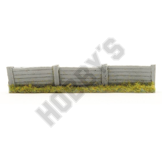 Concrete Fencing with Foliage