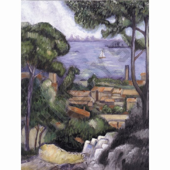 L'Estaque A Villa - Acrylic Painting