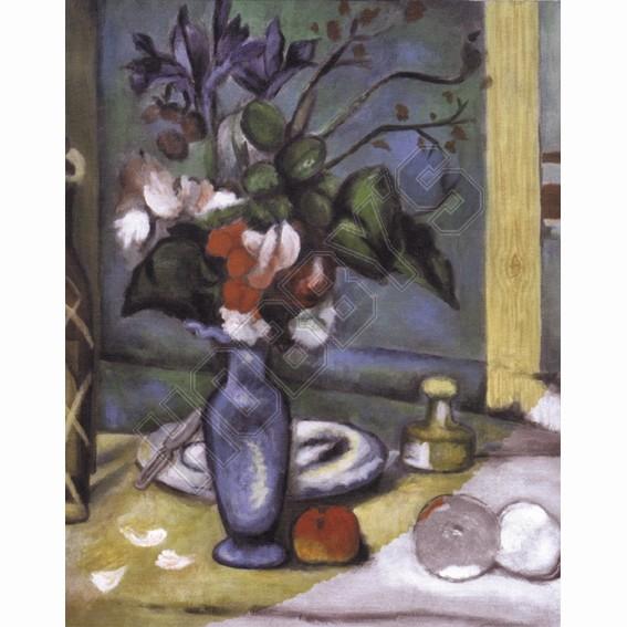 Blue Vase - Acrylic Painting