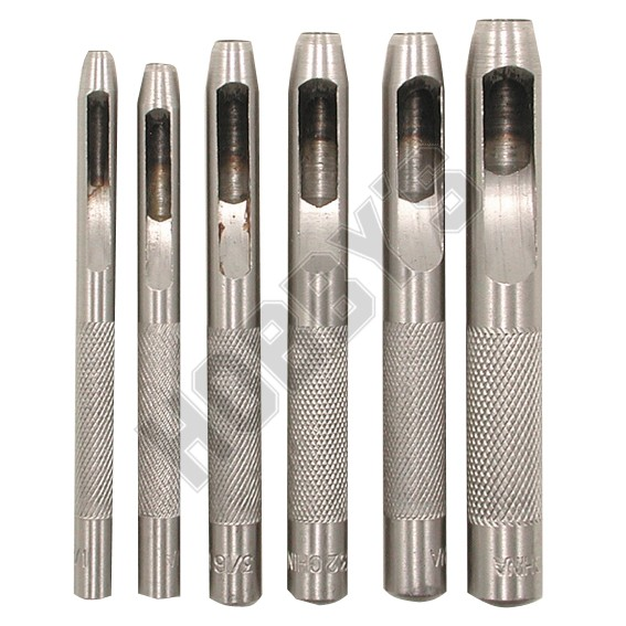 Hollow Punch 6 Piece Set 1/8 - 5/16 inch