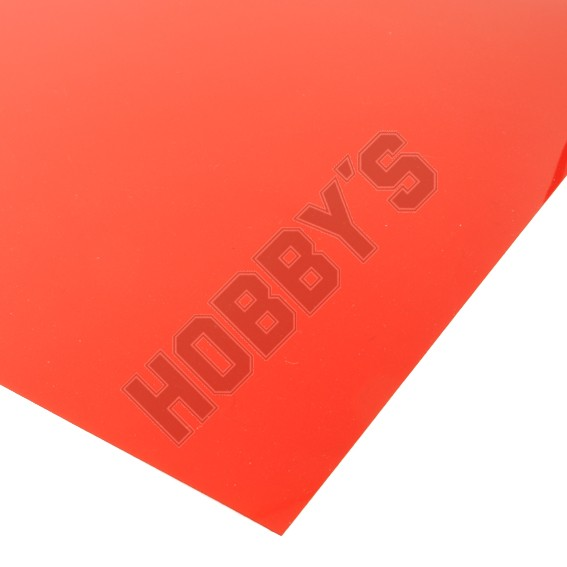 Translucent Coloured Sheet - Red