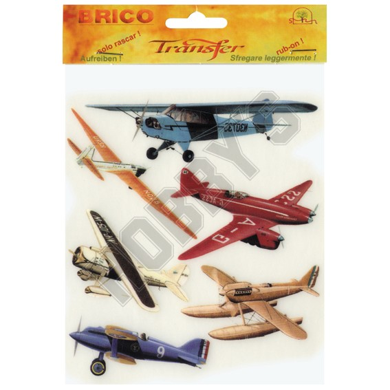 Rub On Transfer Design - Aeroplanes