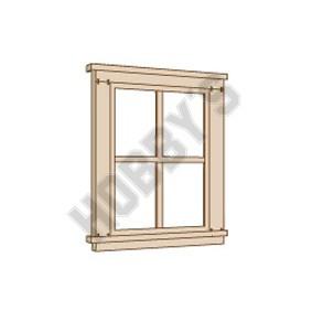 2/2 Double Hung Window