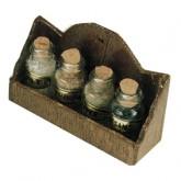 Rack With Spice Jars
