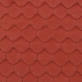 Red Hangingwall Tile Cladding