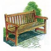 Park Bench Plan