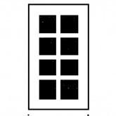 Georgian Window - 55mm x 96mm