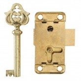 Brass Plated Key & Steel Lock