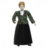 Woman in Velvet Skirt