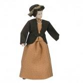 Woman in silk dress