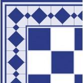 Tiles - Blue On White