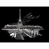 Eiffel Tower-Engraving Art (