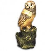 Garden Moulds-Owl On Log