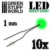 Led Green 1mm 10Pk