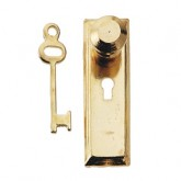 Door Knob and Key Plate with Key