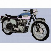 Triumph Bonneville 120R - Cross Stitch
