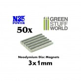 Neodymium Magnets 50Pcs 1x3mm