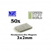 Neodymium Magnets 50Pcs 2x3mm
