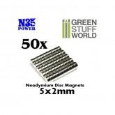 Neodymium Magnets 50Pcs 2x5mm