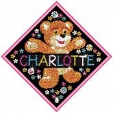 Sequin Art - Teddy Nameplate