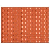 Plastic Sheet Embossed Flemish Bond Red