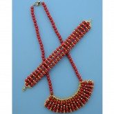 Safety Pin Jewellery - Red/Gold