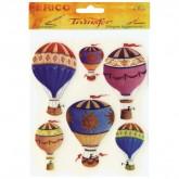 Rub On Transfer Design - Hot Air Ballons
