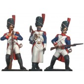 French Inperial Guard Infantry reloading & Sapper 1805