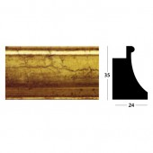 Picture Moulding Distressed gold finish