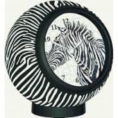 3D Puzzle - Zebra Pattern Clock